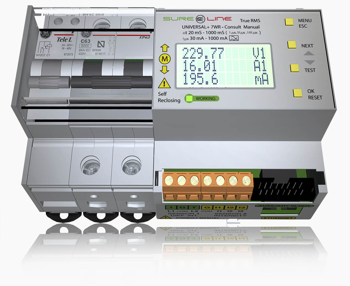 Sistema de protección de alta velocidad y doble dispositivo de desconexión 7wr-m1-2p-ref